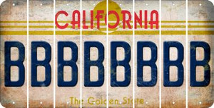 California B Cut License Plate Strips (Set of 8) LPS-CA1-002