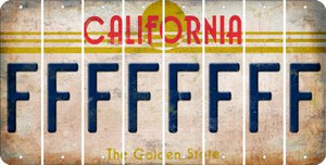 California F Cut License Plate Strips (Set of 8) LPS-CA1-006