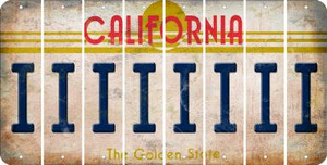 California I Cut License Plate Strips (Set of 8) LPS-CA1-009