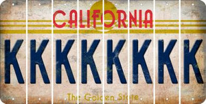 California K Cut License Plate Strips (Set of 8) LPS-CA1-011