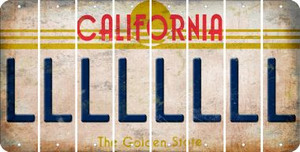 California L Cut License Plate Strips (Set of 8) LPS-CA1-012