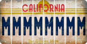 California M Cut License Plate Strips (Set of 8) LPS-CA1-013