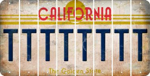 California T Cut License Plate Strips (Set of 8) LPS-CA1-020