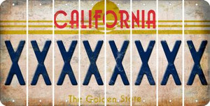 California X Cut License Plate Strips (Set of 8) LPS-CA1-024