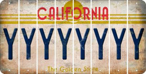 California Y Cut License Plate Strips (Set of 8) LPS-CA1-025