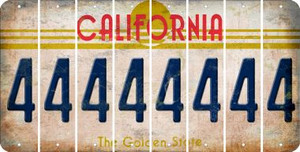 California 4 Cut License Plate Strips (Set of 8) LPS-CA1-031