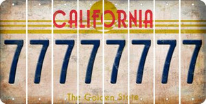 California 7 Cut License Plate Strips (Set of 8) LPS-CA1-034