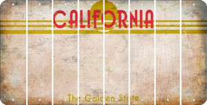 California BLANK Cut License Plate Strips (Set of 8) LPS-CA1-037