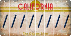 California FORWARD SLASH Cut License Plate Strips (Set of 8) LPS-CA1-042