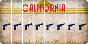 California HANDGUN Cut License Plate Strips (Set of 8) LPS-CA1-051