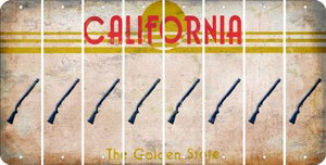 California SHOTGUN Cut License Plate Strips (Set of 8) LPS-CA1-054