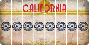 California 2ND AMENDMENT Cut License Plate Strips (Set of 8) LPS-CA1-056