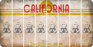 California BABY BOY Cut License Plate Strips (Set of 8) LPS-CA1-066