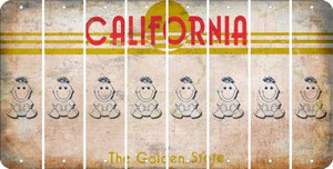 California BABY GIRL Cut License Plate Strips (Set of 8) LPS-CA1-067
