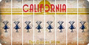 California TEEN GIRL Cut License Plate Strips (Set of 8) LPS-CA1-069
