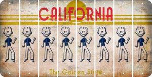 California DAD Cut License Plate Strips (Set of 8) LPS-CA1-071