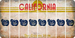 California PUMPKIN Cut License Plate Strips (Set of 8) LPS-CA1-075