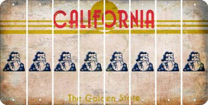 California SANTA Cut License Plate Strips (Set of 8) LPS-CA1-078