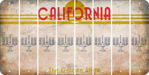 California MENORAH Cut License Plate Strips (Set of 8) LPS-CA1-080
