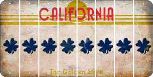 California SHAMROCK Cut License Plate Strips (Set of 8) LPS-CA1-082