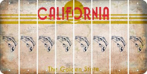 California FISH Cut License Plate Strips (Set of 8) LPS-CA1-086