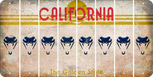 California SNAKE Cut License Plate Strips (Set of 8) LPS-CA1-088
