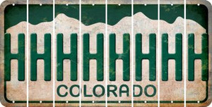 Colorado H Cut License Plate Strips (Set of 8) LPS-CO1-008