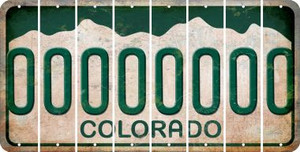 Colorado O Cut License Plate Strips (Set of 8) LPS-CO1-015