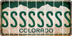 Colorado S Cut License Plate Strips (Set of 8) LPS-CO1-019