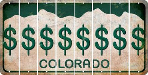Colorado DOLLAR SIGN Cut License Plate Strips (Set of 8) LPS-CO1-040