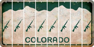 Colorado M16 RIFLE Cut License Plate Strips (Set of 8) LPS-CO1-052