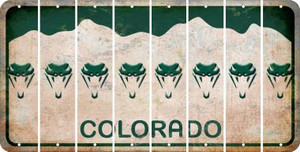 Colorado SNAKE Cut License Plate Strips (Set of 8) LPS-CO1-088