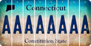 Connecticut A Cut License Plate Strips (Set of 8) LPS-CT1-001