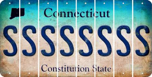 Connecticut S Cut License Plate Strips (Set of 8) LPS-CT1-019