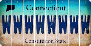 Connecticut W Cut License Plate Strips (Set of 8) LPS-CT1-023