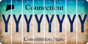 Connecticut Y Cut License Plate Strips (Set of 8) LPS-CT1-025