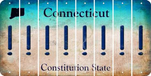 Connecticut EXCLAMATION POINT Cut License Plate Strips (Set of 8) LPS-CT1-041