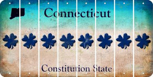 Connecticut SHAMROCK Cut License Plate Strips (Set of 8) LPS-CT1-082