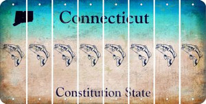Connecticut FISH Cut License Plate Strips (Set of 8) LPS-CT1-086