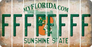 Florida F Cut License Plate Strips (Set of 8) LPS-FL1-006