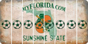 Florida SOCCERBALL Cut License Plate Strips (Set of 8) LPS-FL1-061