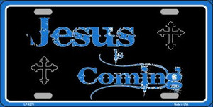 Jesus Is Coming Wholesale Metal Novelty License Plate