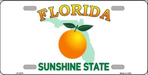 Florida Novelty State Background Wholesale Metal License Plate LP-4279