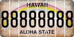 Hawaii 8 Cut License Plate Strips (Set of 8) LPS-HI1-035
