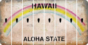 Hawaii APOSTROPHE Cut License Plate Strips (Set of 8) LPS-HI1-038
