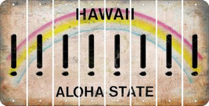 Hawaii EXCLAMATION POINT Cut License Plate Strips (Set of 8)