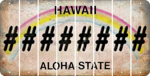 Hawaii HASHTAG Cut License Plate Strips (Set of 8) LPS-HI1-043