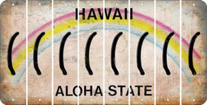 Hawaii LEFT PARENTHESIS Cut License Plate Strips (Set of 8) LPS-HI1-045