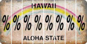 Hawaii PERCENT SIGN Cut License Plate Strips (Set of 8) LPS-HI1-046