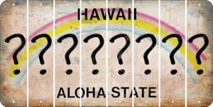 Hawaii QUESTION MARK Cut License Plate Strips (Set of 8) LPS-HI1-047